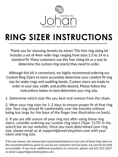 Free Ring Sizing Kit-1170-2 - Jewelry by Johan