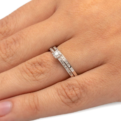 Silver Diamond Bridal Set