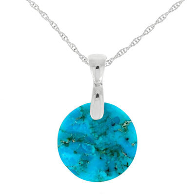 Round Turquoise Necklace, Made to Order-3780 - Jewelry by Johan