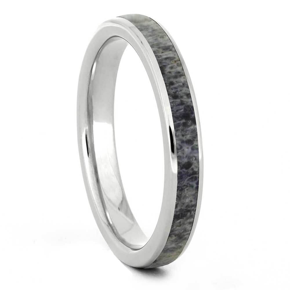 Women's Titanium Antler Wedding Band