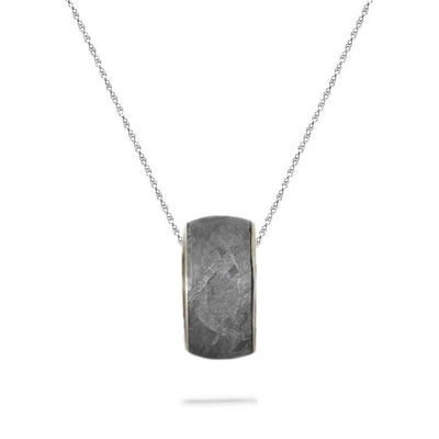"Gibeon Meteorite Charm Bead on 18"" Chain Necklace"