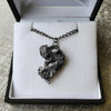 Meteorite Nugget Necklace with Black Chain