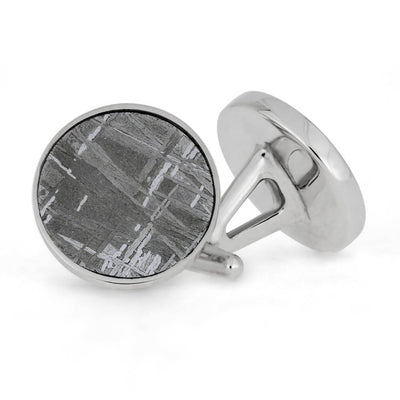 Meteorite Wedding Band And Cuff Links Set-1581 - Jewelry by Johan