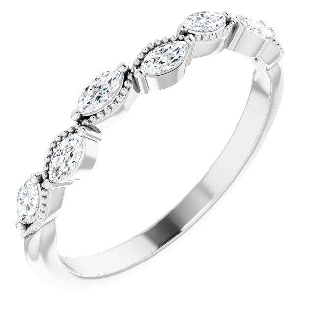 1/3 CTW Diamond Anniversary Band in White Gold-ST123865 - Jewelry by Johan