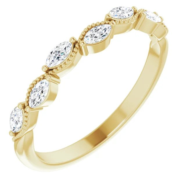 1/3 CTW Diamond Anniversary Band in Yellow Gold-ST123865 - Jewelry by Johan