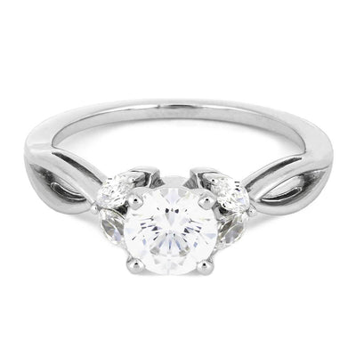 Multi Stone Engagement Ring in White Gold