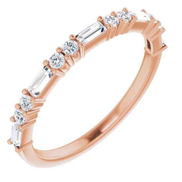 Rose Gold Diamond Wedding Band-ST685-BRG - Jewelry by Johan