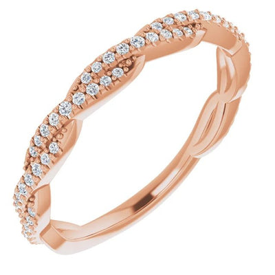 Yellow Gold Diamond Twist Women's Wedding Band-ST697-BYG - Jewelry by Johan