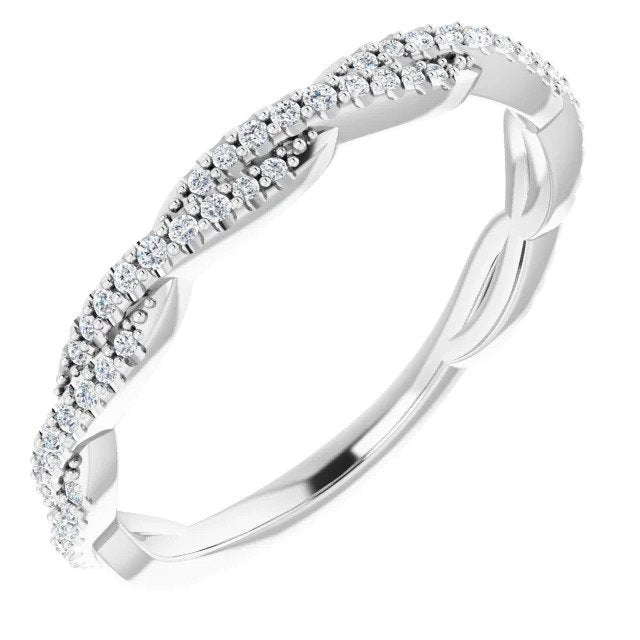 Diamond Twist Women's Wedding Band-ST697-BWG - Jewelry by Johan