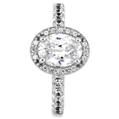 Oval Diamond Engagement Ring with Halo Settting