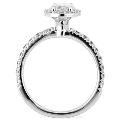 White Gold Engagement Ring with Diamond Multi Stone