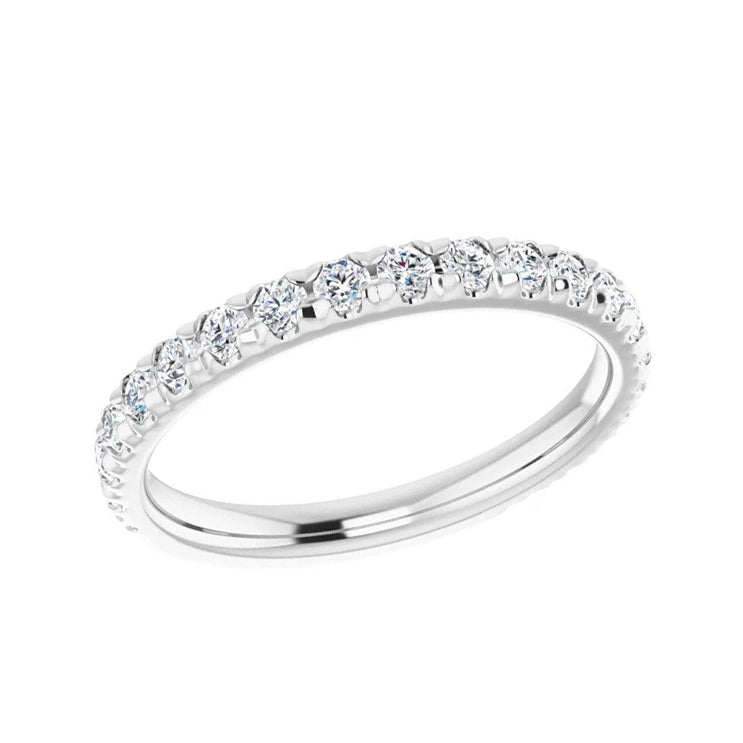 French Set Diamond Wedding Band-ST706-B - Jewelry by Johan