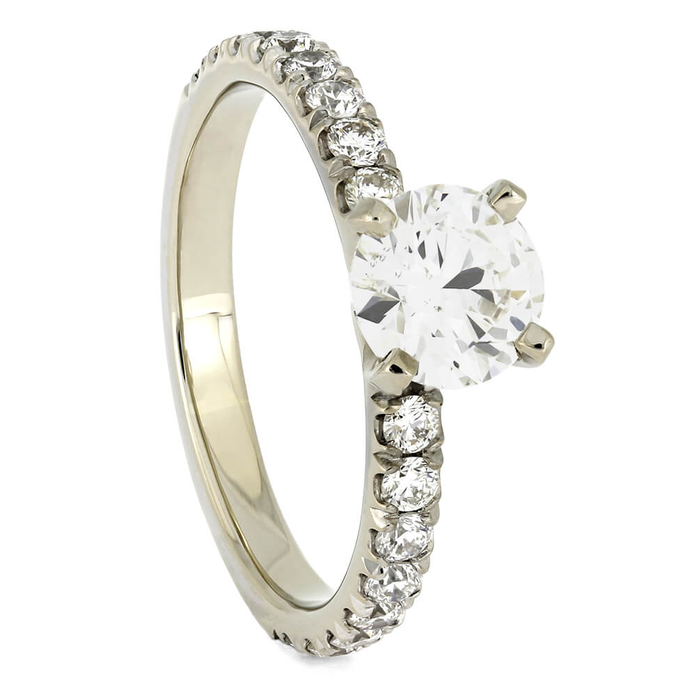 Solitaire Diamond 4-Prong Engagement Ring-ST706-3D - Jewelry by Johan