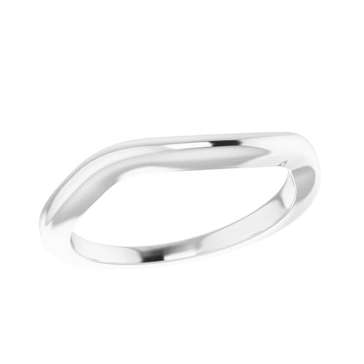 Simple Contour Band in White Gold Band-ST711-BWG - Jewelry by Johan