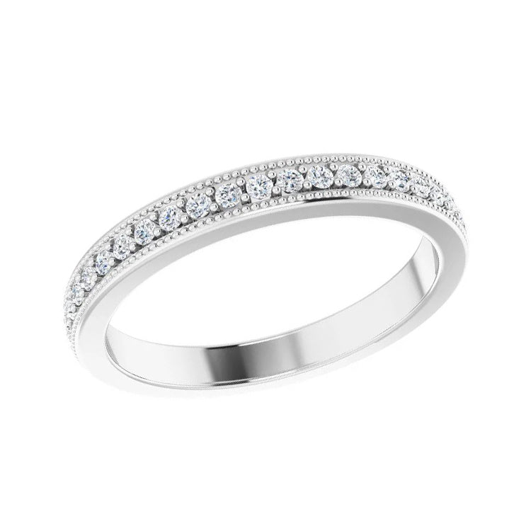 Diamond Milgrain Edge Wedding Band-ST725-B - Jewelry by Johan