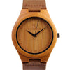 Men or Women's Wood Watch With Leather Belt Strap-SW1000