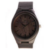 Men's Black Wood Watch Made With Sandalwood With Leather Band-SW1002