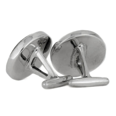 Round Sterling Silver Cuff Links with Purple Stardust™-3908 - Jewelry by Johan
