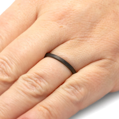 Flat Black Women's Ring