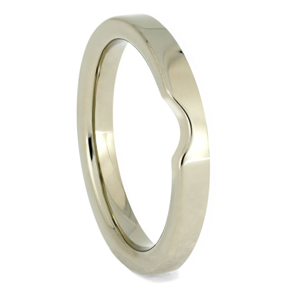 Simple, Custom Women's Wedding Band In White Gold-4136WG - Jewelry by Johan