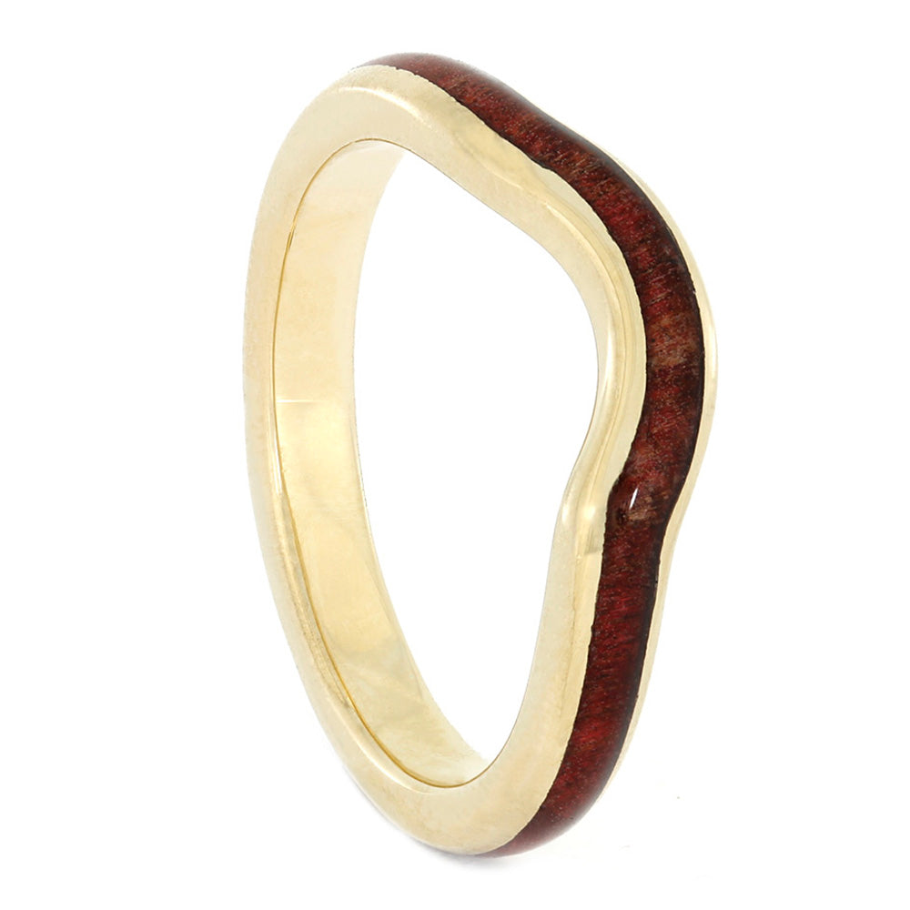 Ruby Rosewood Wedding Band, Yellow Gold Matching Wedding Ring-3969 - Jewelry by Johan