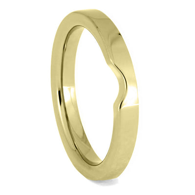 Women's Yellow Gold Wedding Band, 2mm Flat Profile Shadow Band-4136YG - Jewelry by Johan