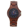 Modern Wood Watch Made With Red Sandalwood