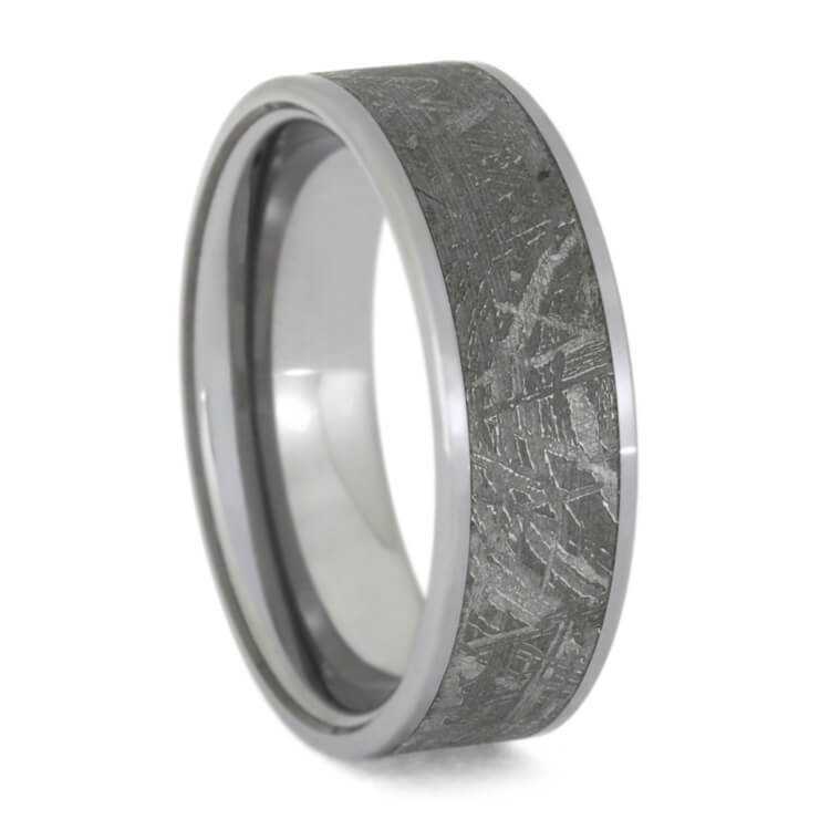 Tungsten Meteorite Ring For Man, Size 11.75-RS9724 - Jewelry by Johan