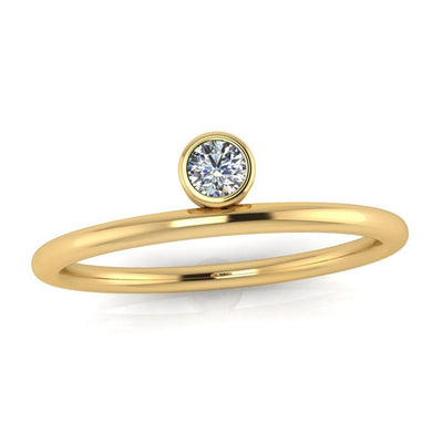 Yellow Gold Gemstone Engagement Ring