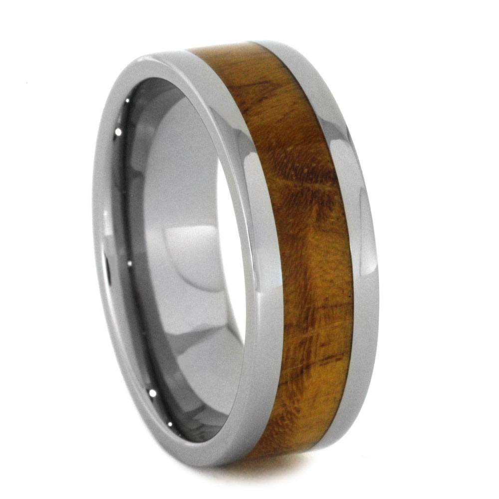Titanium Ring with Teak Burl Inlay-2879 - Jewelry by Johan