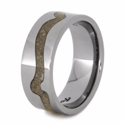 Engraved Titanium Pet Memorial Ring with Ashes (3)