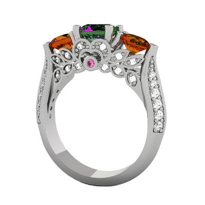 Mystic Topaz Engagement Ring in 10k White Gold-3154 - Jewelry by Johan