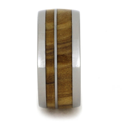 Olive Wood Titanium Edges Round(2)