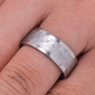 Men's Meteorite Wedding Band, Titanium Ring-3576 - Jewelry by Johan