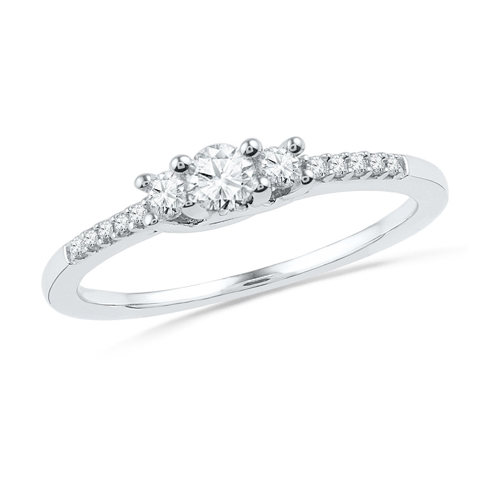 Accented Diamond Engagement Ring in Sterling Silver-SHRF024773-SS - Jewelry by Johan