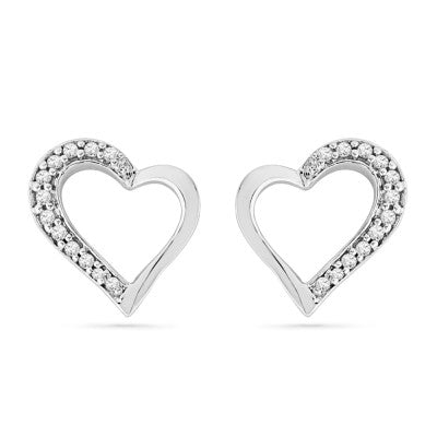 Diamond Earrings in Heart Shape