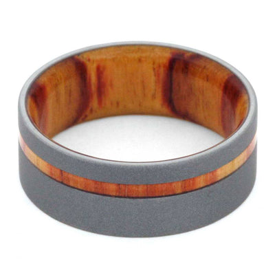 mens wedding band Tulip-Wood-Reverse-Sandblasted-Titanium-8-mm(4)