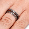 Titanium Wedding Band with Antler and Ironwood-2194 - Jewelry by Johan