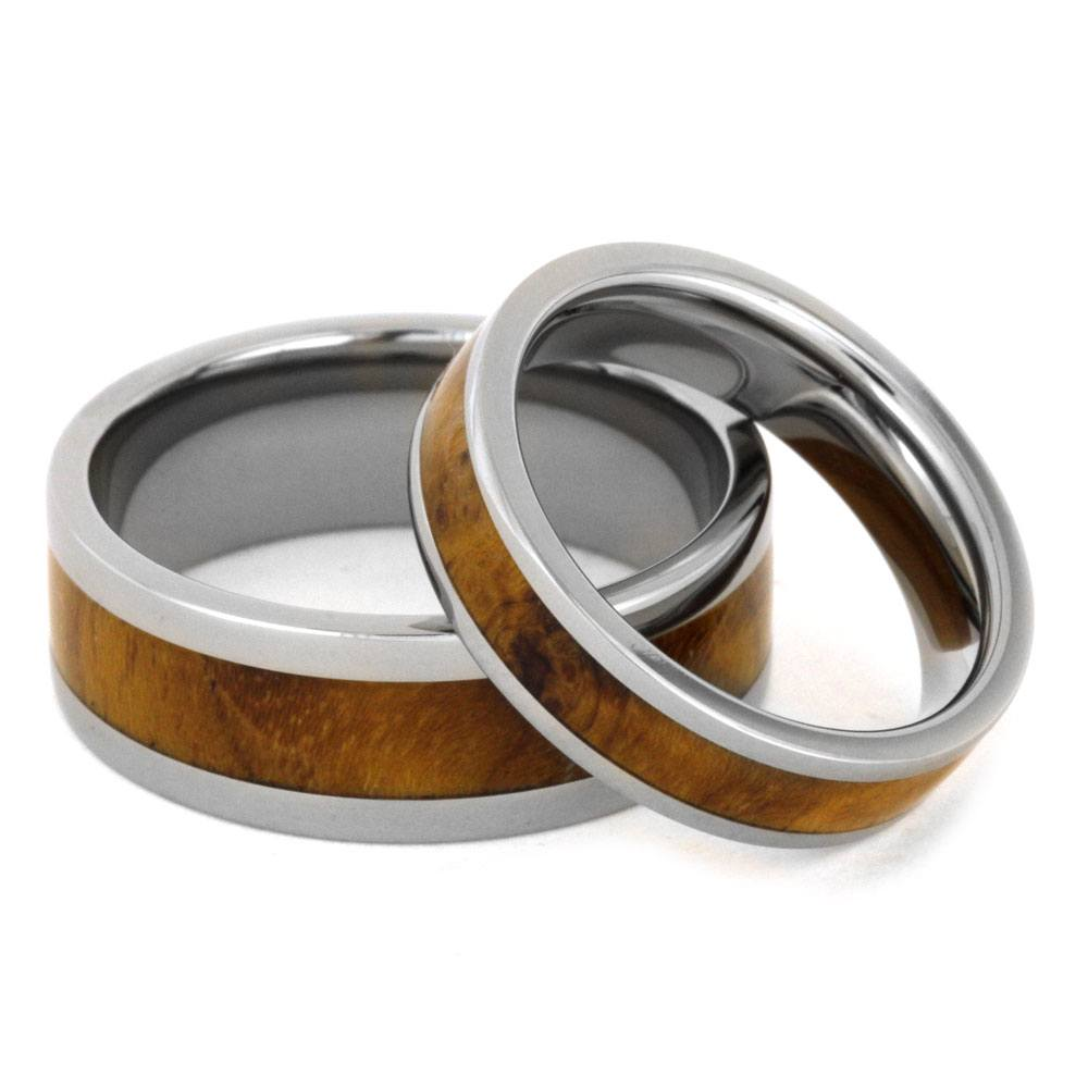 ring wedding finish products duality and titanium s stonewashed men mens w rings chamfer teak stonewash wood band