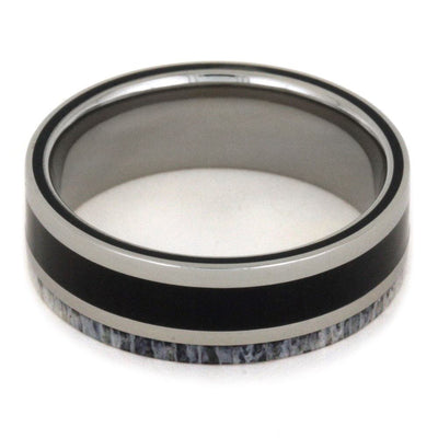 Titanium Ring with Ebony Wood