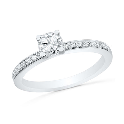 Sterling Silver Classic Engagement Ring