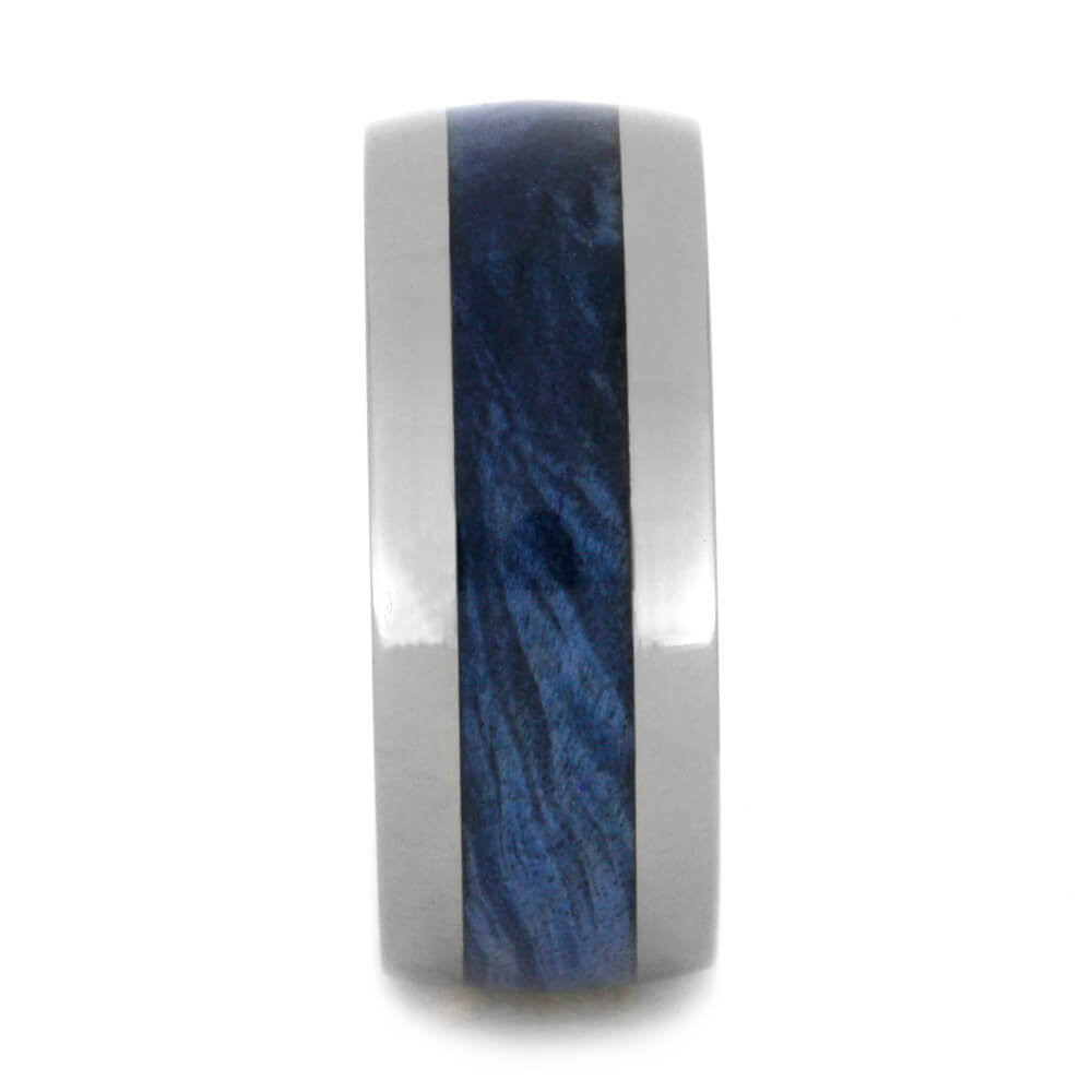 blue box elder burl wood ring titanium wedding band jewelry by johan. Black Bedroom Furniture Sets. Home Design Ideas