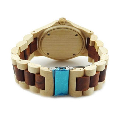 Red Sandalwood Watch With Maple Wood And Wavy Profile