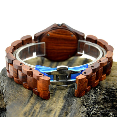 Natural Wood Watch For Ladies