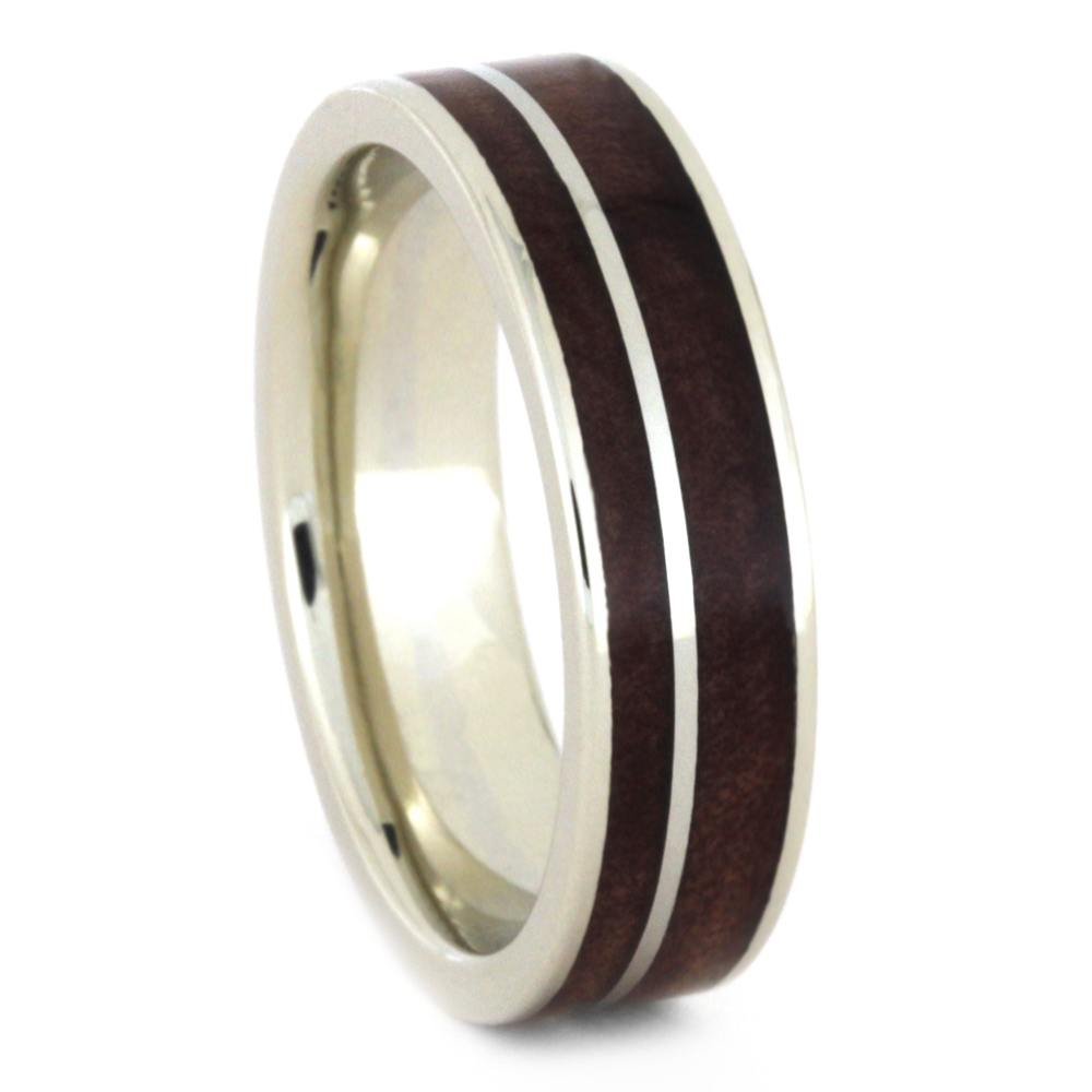 Green Jade Wedding Band Set With Redwood And Cedar Wood Jewelry by
