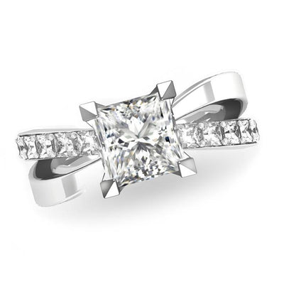 Princess Cut Diamonds Bow(1)