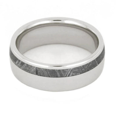Wedding Band With Meteorite Inlay