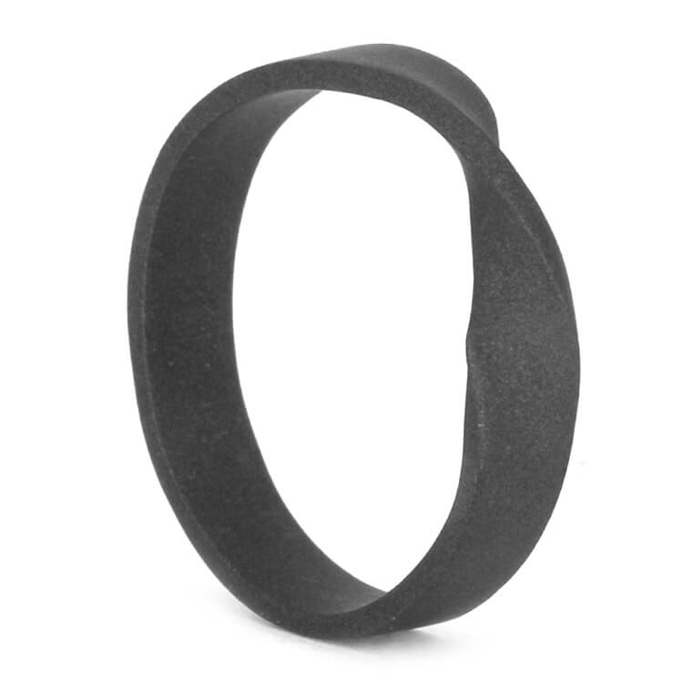 Sandblasted Titanium Mobius Ring, Size 6.5-RS9625 - Jewelry by Johan