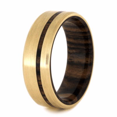Yellow Gold Ring With Bocote Wood (3)