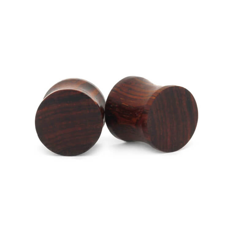 Cocobolo Wood Ear Plugs, Natural Ear Gauges, Unisex Wood Jewelry-RS9464 - Jewelry by Johan